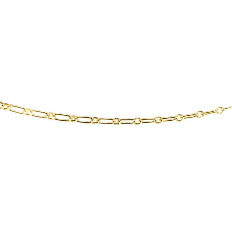 paperclip inspired chain in gold