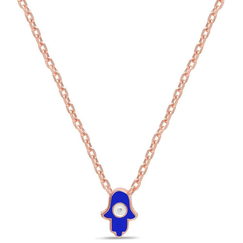 Lucky and Tiny Hamsa Hand Necklace