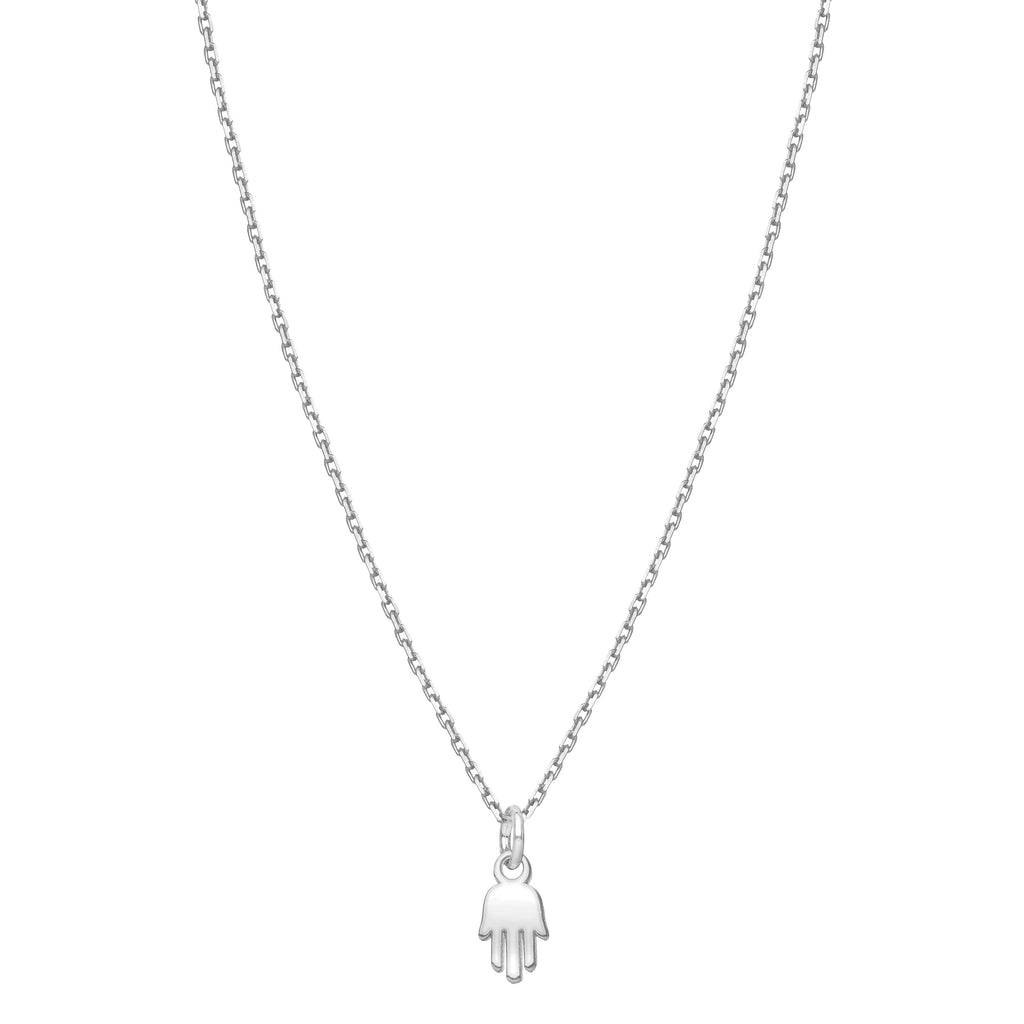 silver hamsa necklace tiny