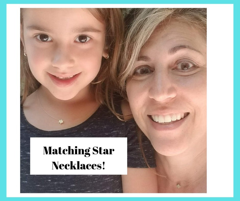 mother and child jewish star necklaces