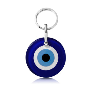 navy blue traditional eye evil keycharm holder