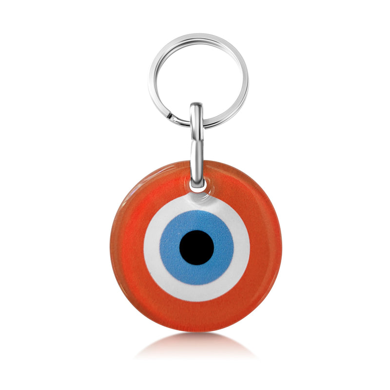 orange key ring charm