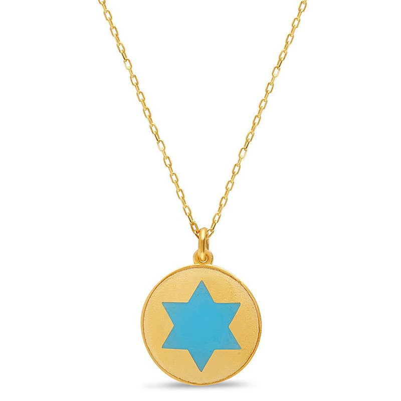 gold jewish star necklace