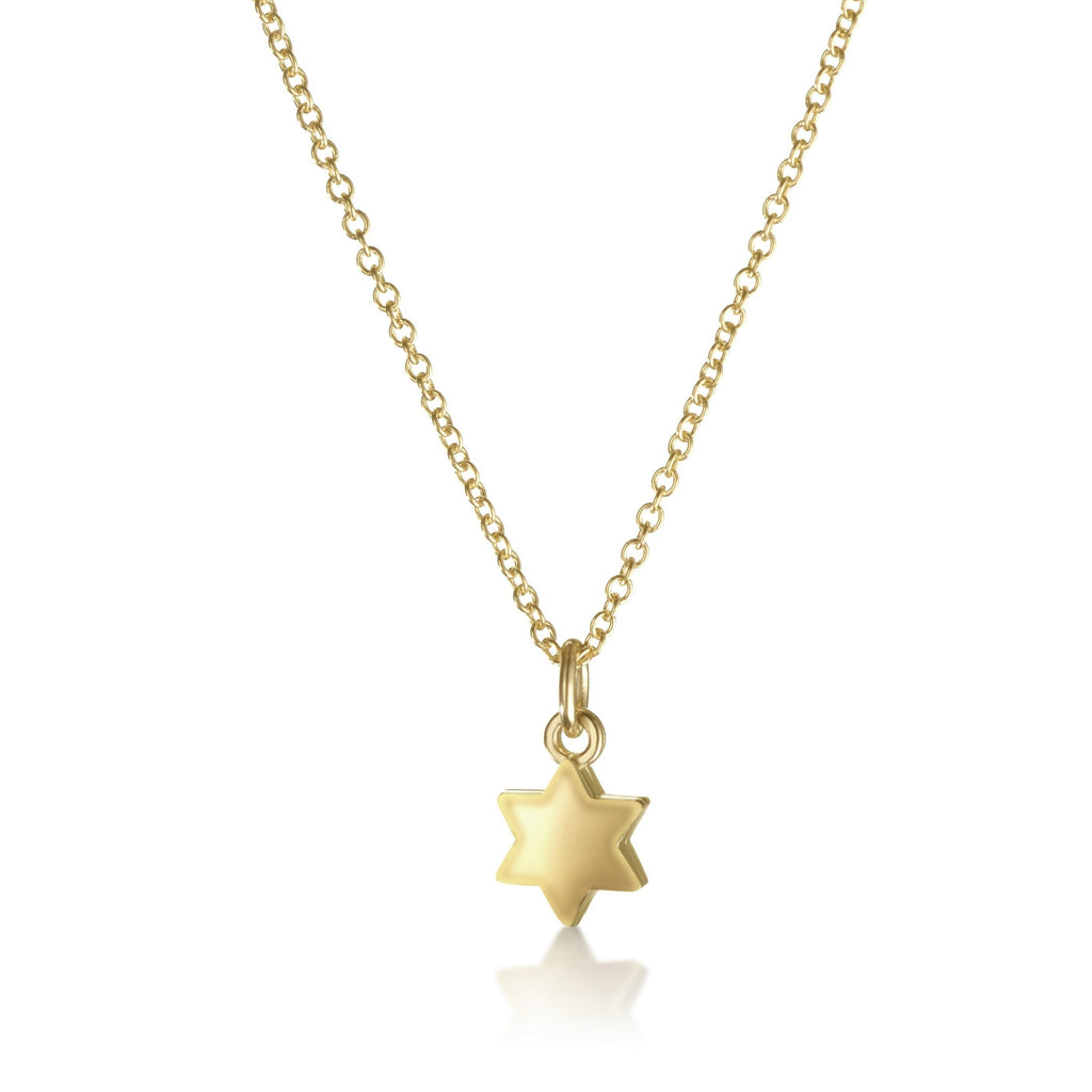 star of david necklace in gold