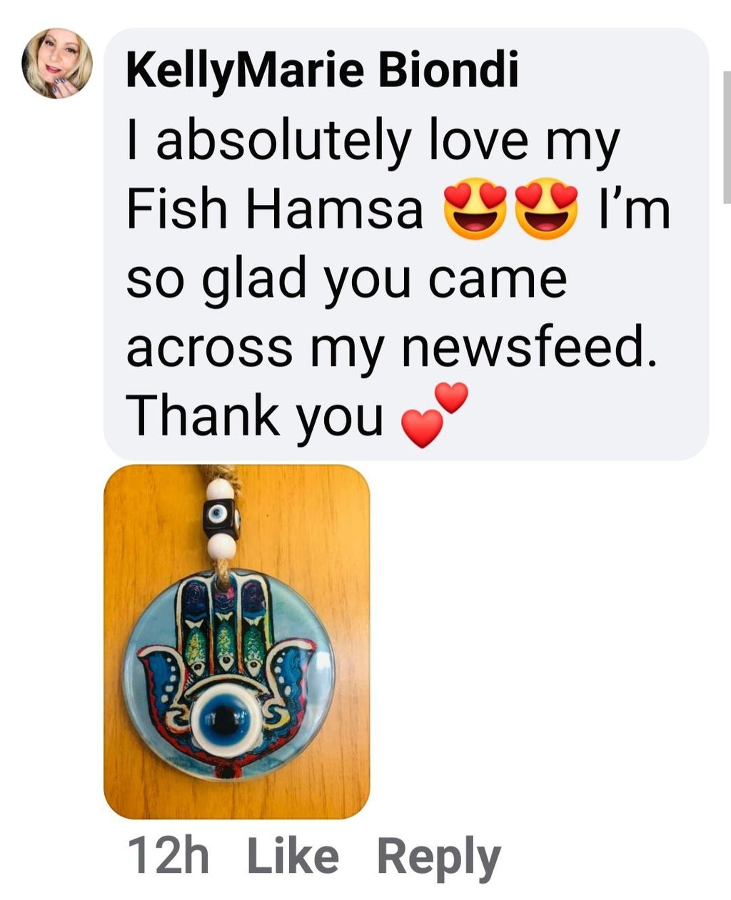 Fish Hamsa Hand Wall Hanging for Home