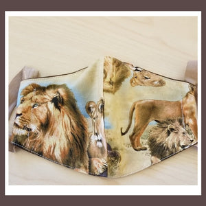 King of the Jungle Mask with Lions