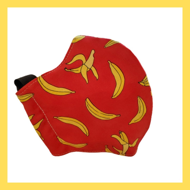 Banana Mask Handmade in USA in Cotton With Double Layer