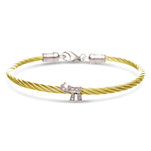 chai bracelet in gold