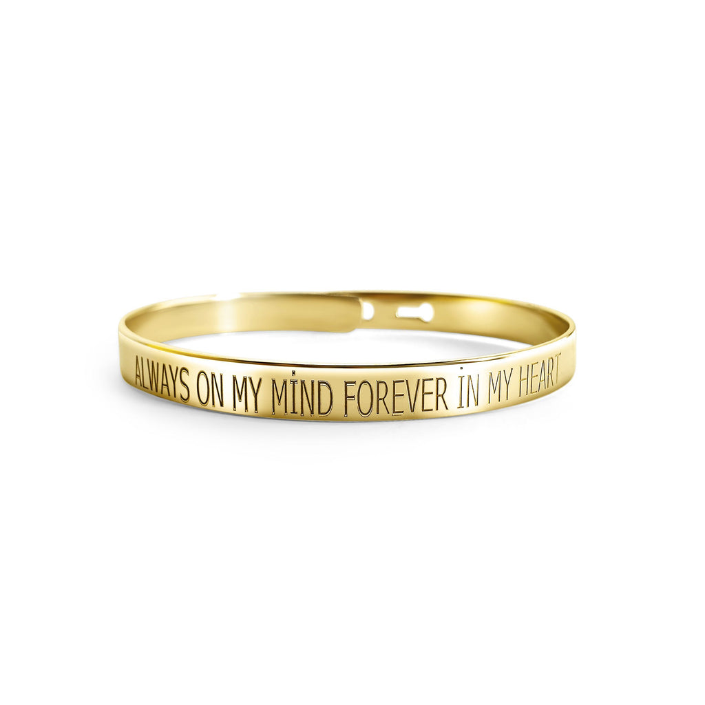 always on my mind memorial bracelet