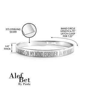 silver bangle memorial honor bracelet