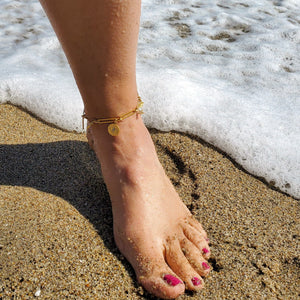 anklet with evil eye