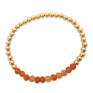 carnelian gemstone with beads bracelet