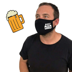 best father day gift mask with beer