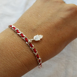 Hamsa Bendel Bracelet - Alef Bet Jewelry by Paula