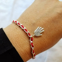 Red String Protective Bendel Bracelet with Hamsa - Alef Bet Jewelry by Paula