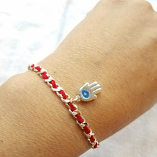 Chamsa Bendel Red String Bracelet - Alef Bet Jewelry by Paula