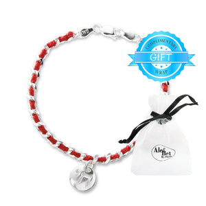 Chai Hebrew Red String Kaballah Protection Bracelet