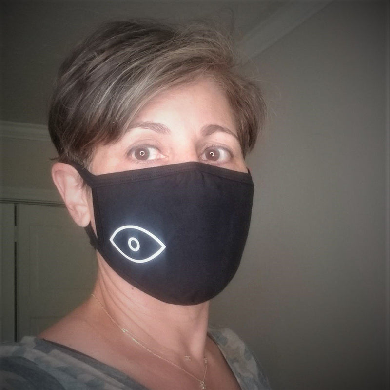 black evil eye mask one size fits men and women