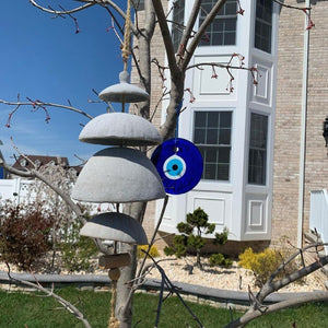 garden art evil eye amulet