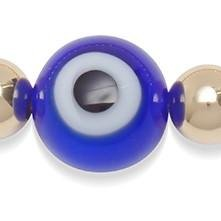 Evil Eye 6mm Silver or Gold Bead Bracelet