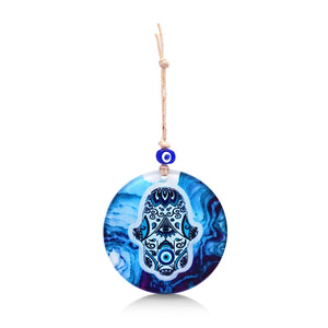 blue hamsa wall art for house