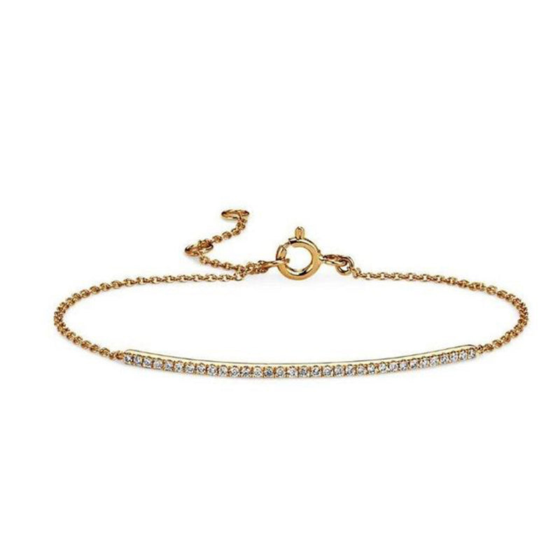 Diamond Bar Bracelet - Alef Bet Jewelry by Paula