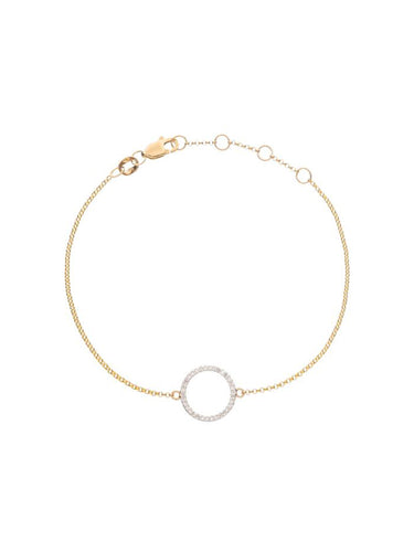 Diamond Circle Bracelet - Alef Bet Jewelry by Paula