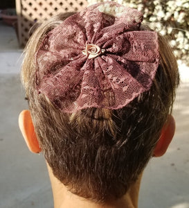 Brown Lace Woman's Kippah
