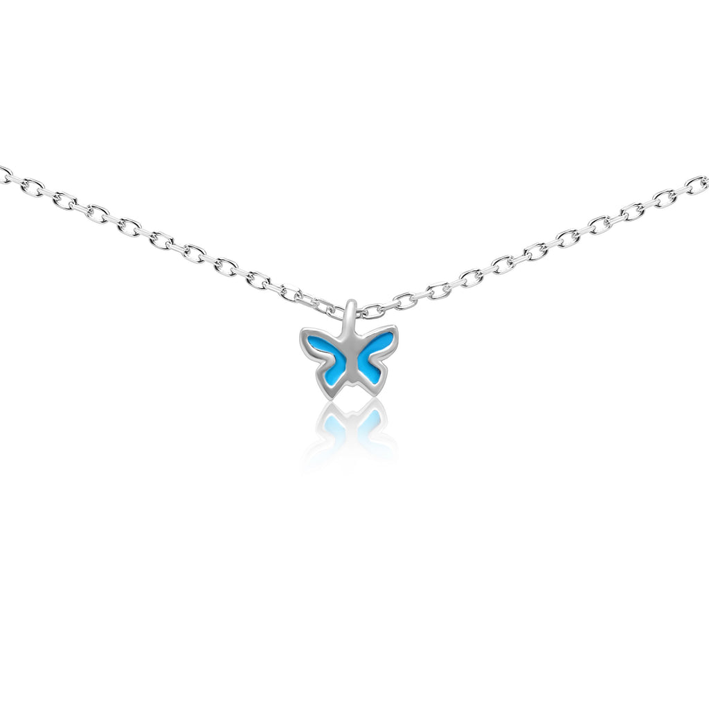 turquoise butterfly charm