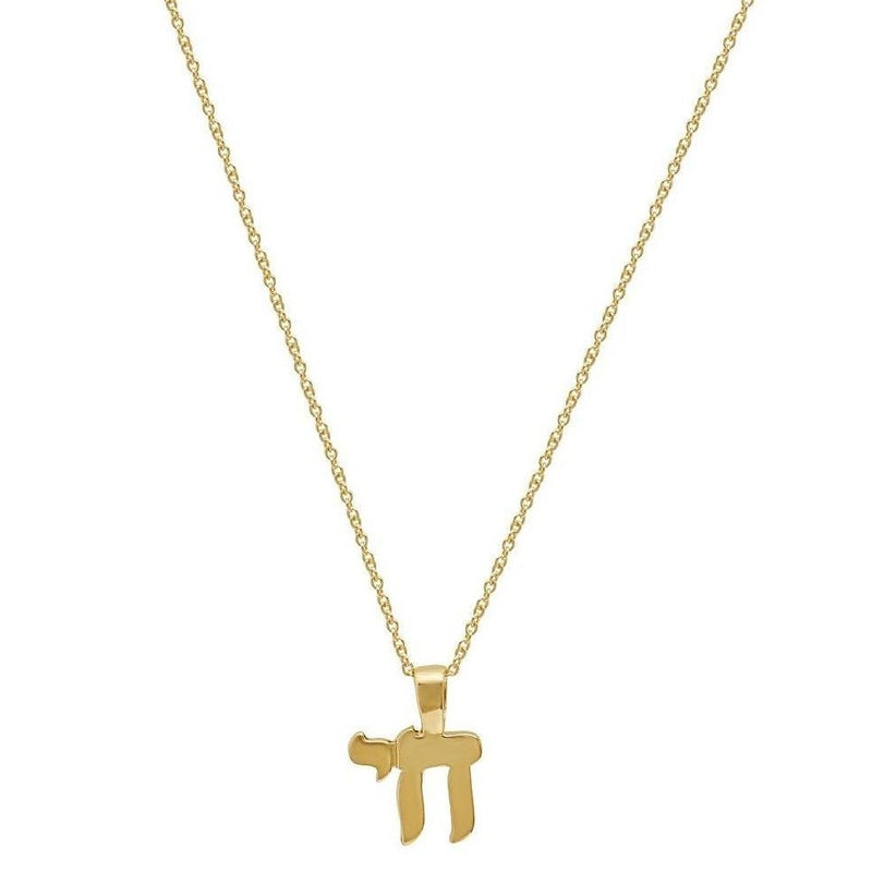 Chai 14k Gold Hebrew Pendant