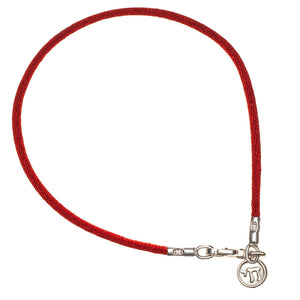 chai bracelet with red string