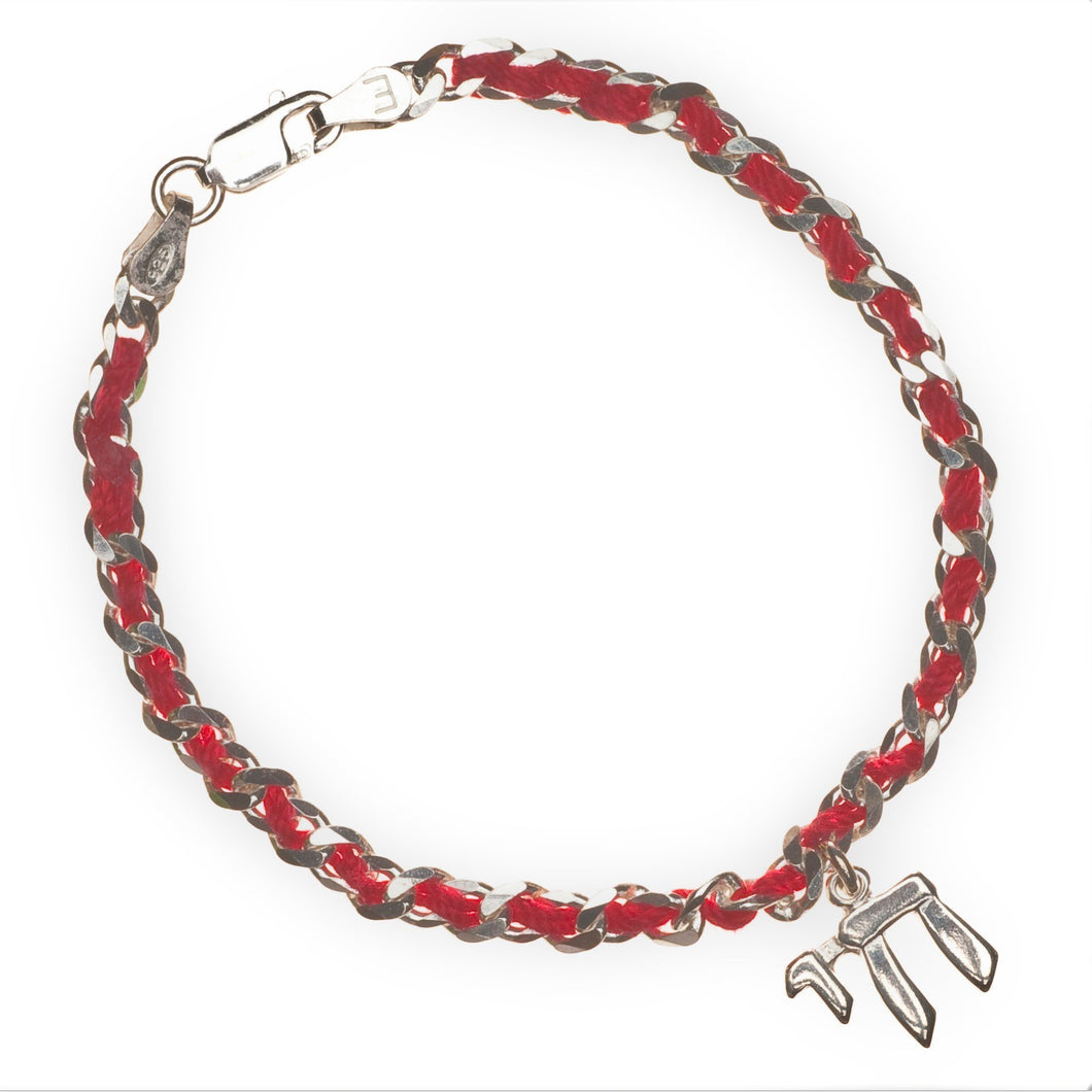 chai hebrew jewelry on red string