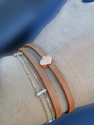 Diamond Bracelet - Alef Bet Jewelry by Paula