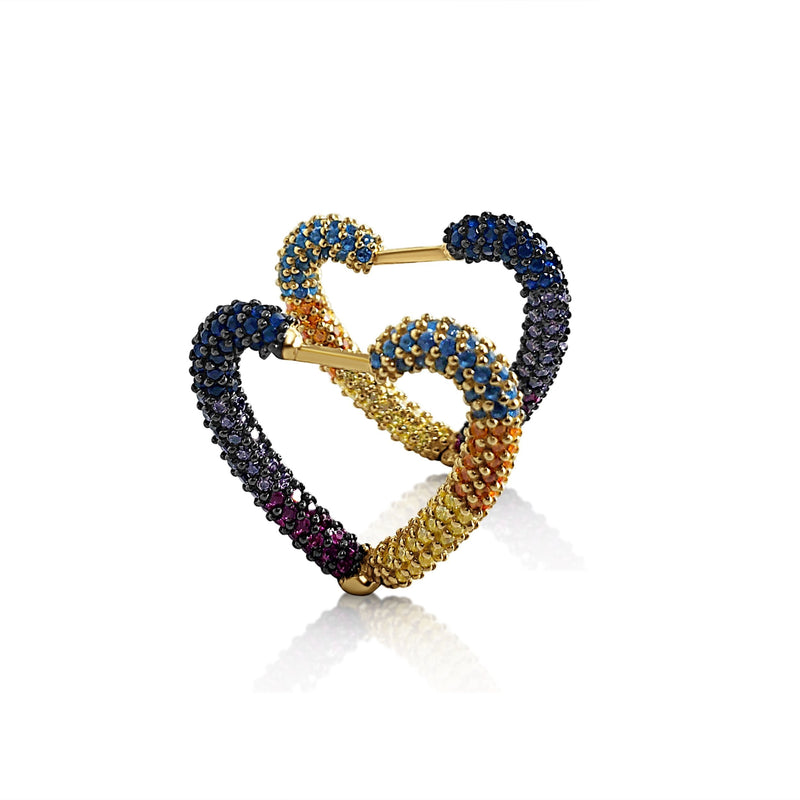 everyday heart earrings for women