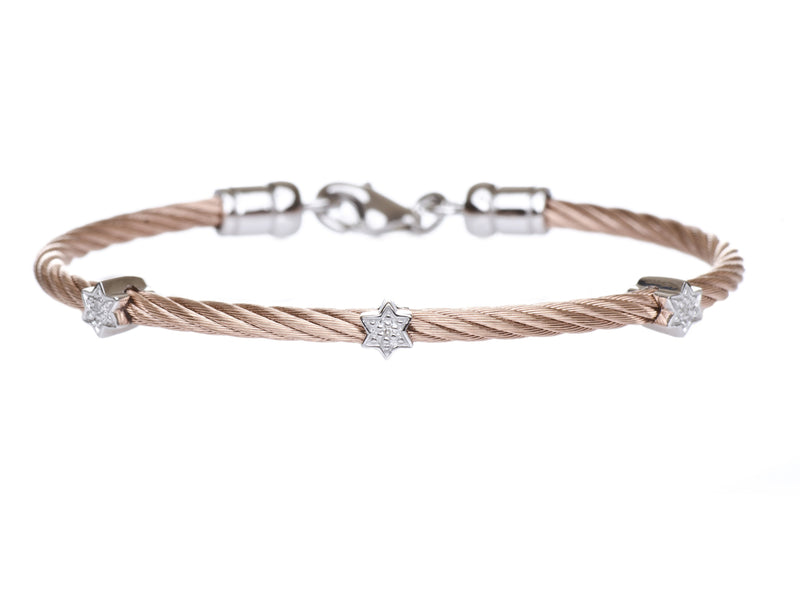 rose gold jewish star bracelet