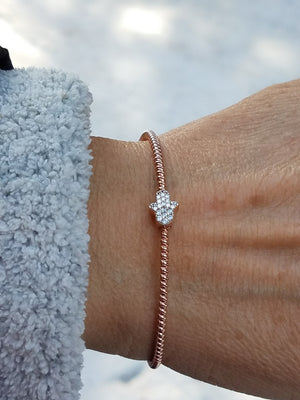 hamsa bangle bracelet for wrist