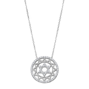 Intricate Star of David Necklace for Women