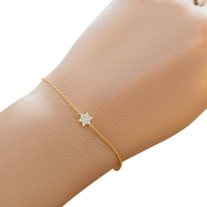 Jewish Star Bracelet-Tiny and Cute - Alef Bet Jewelry by Paula