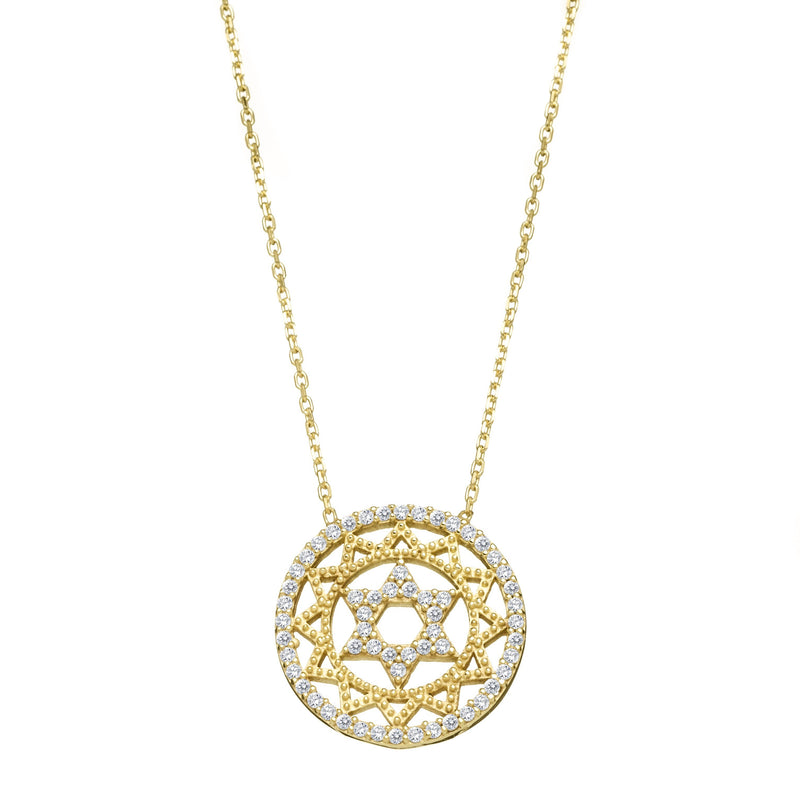 Star of David Necklace yellow gold