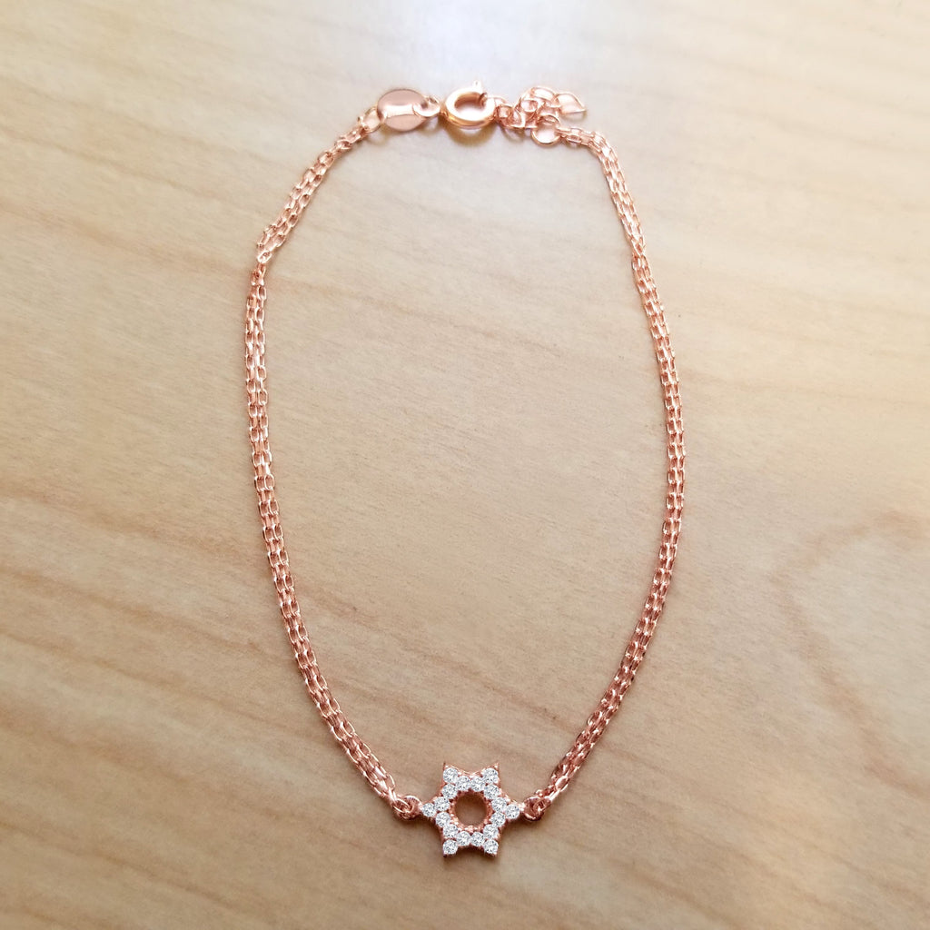 Star of David Bracelet - Alef Bet Jewelry by Paula