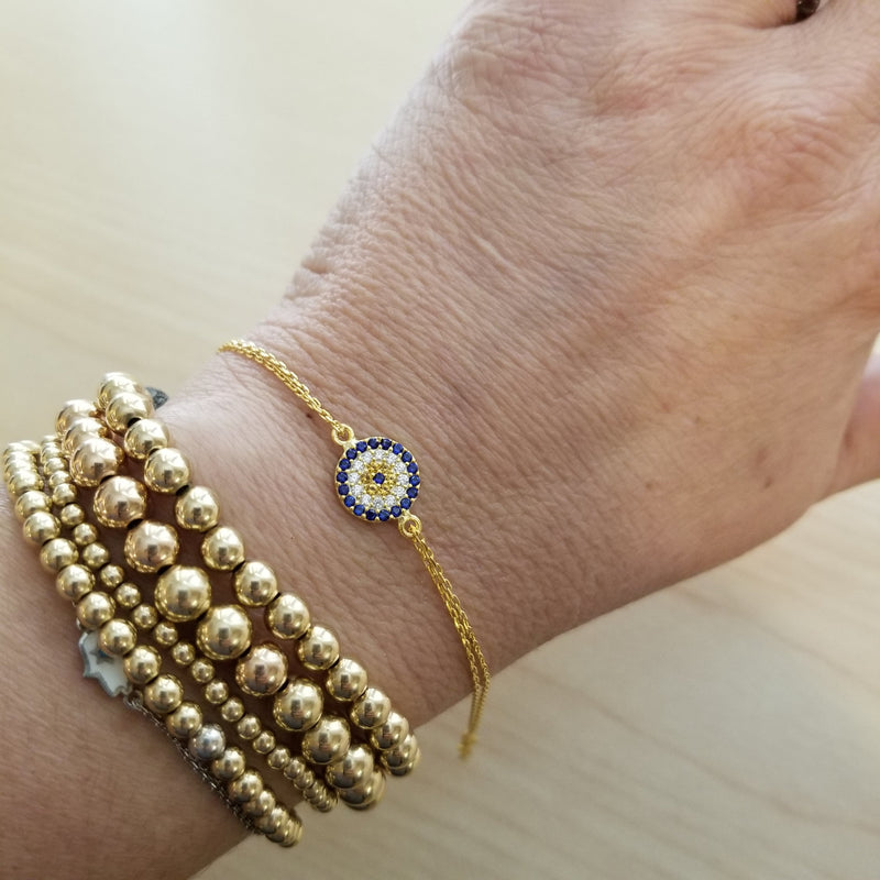Glamorous Evil Eye Bracelet - Alef Bet Jewelry by Paula