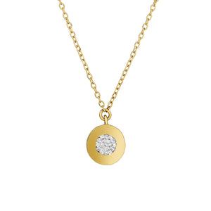 diamond dainty dot necklace