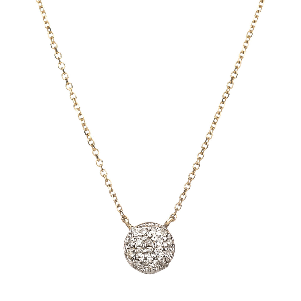 Diamond Dot Necklace - Alef Bet Jewelry by Paula