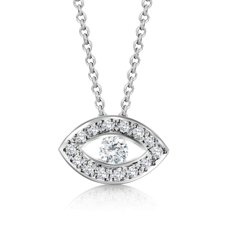 mal de ojo diamond necklace