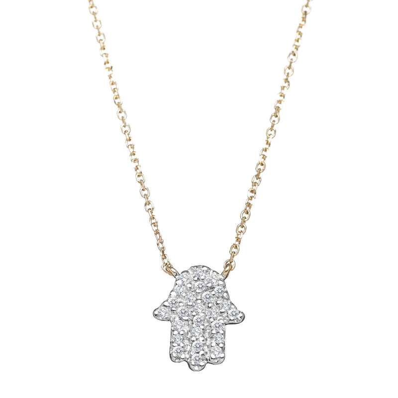 hamsa hand in diamonds