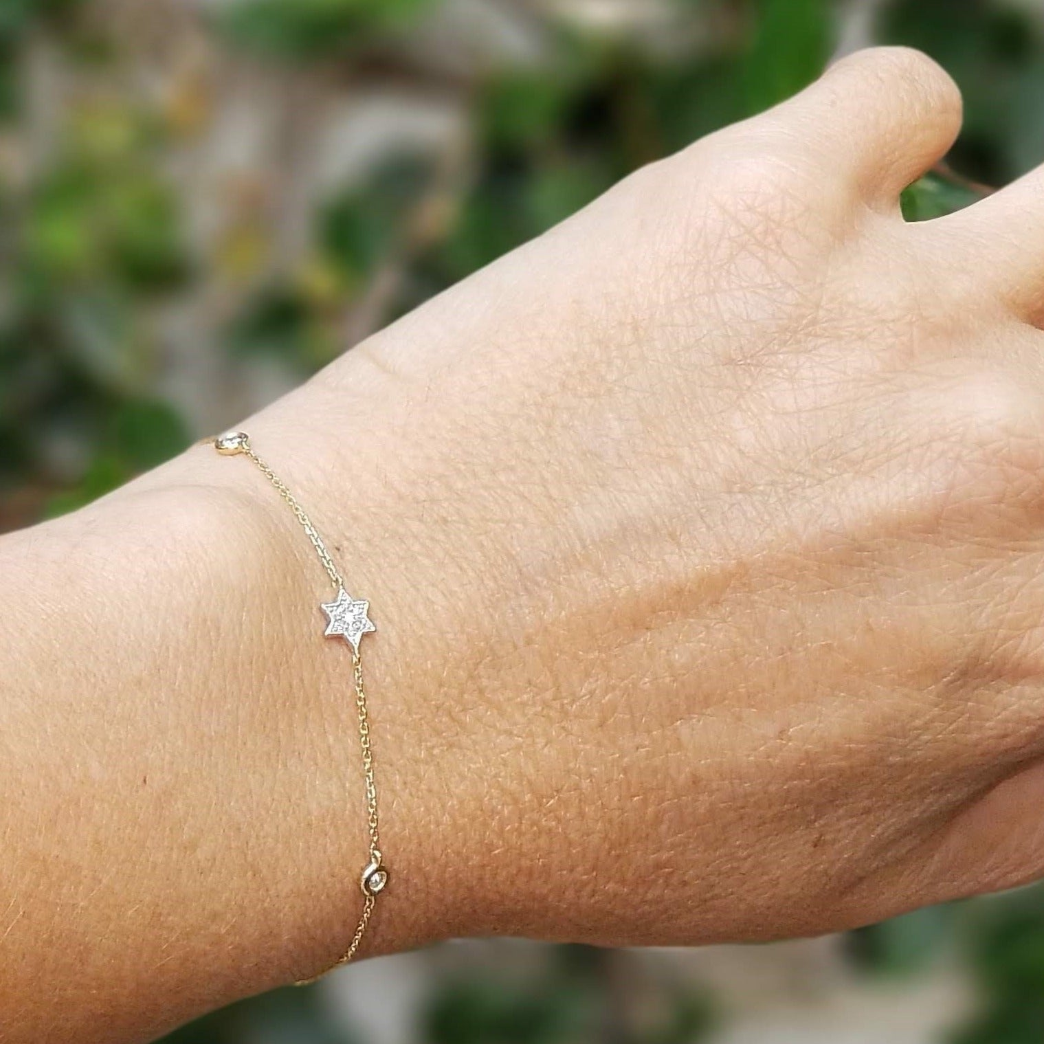 jewish star diamond bracelet