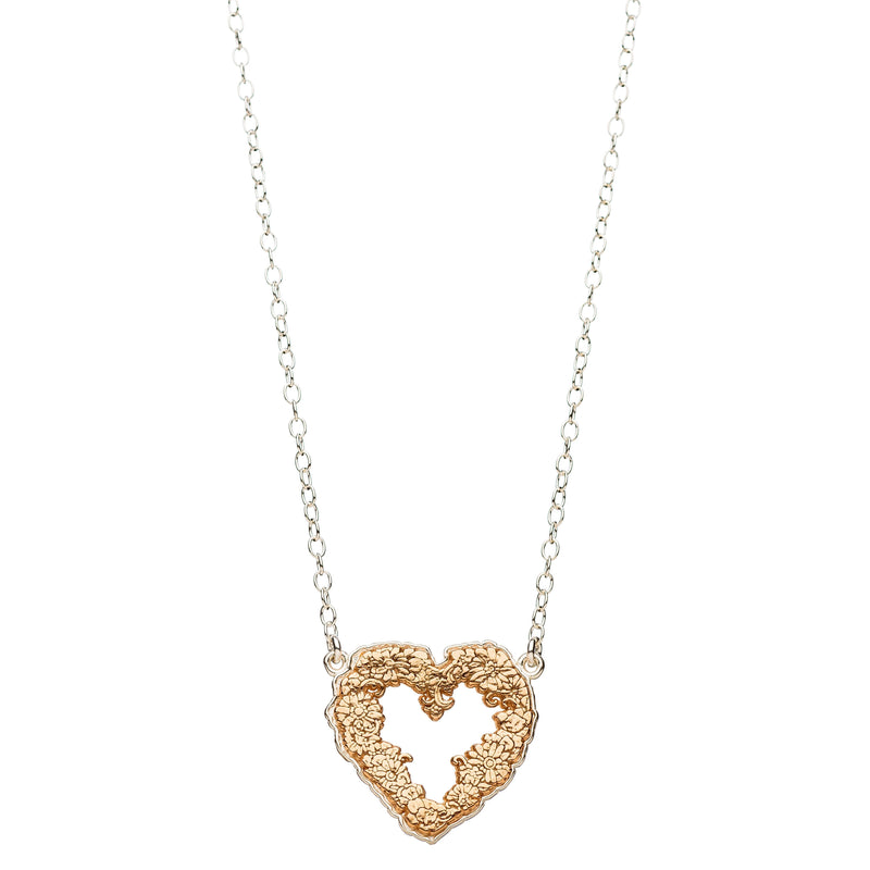heart floral necklace