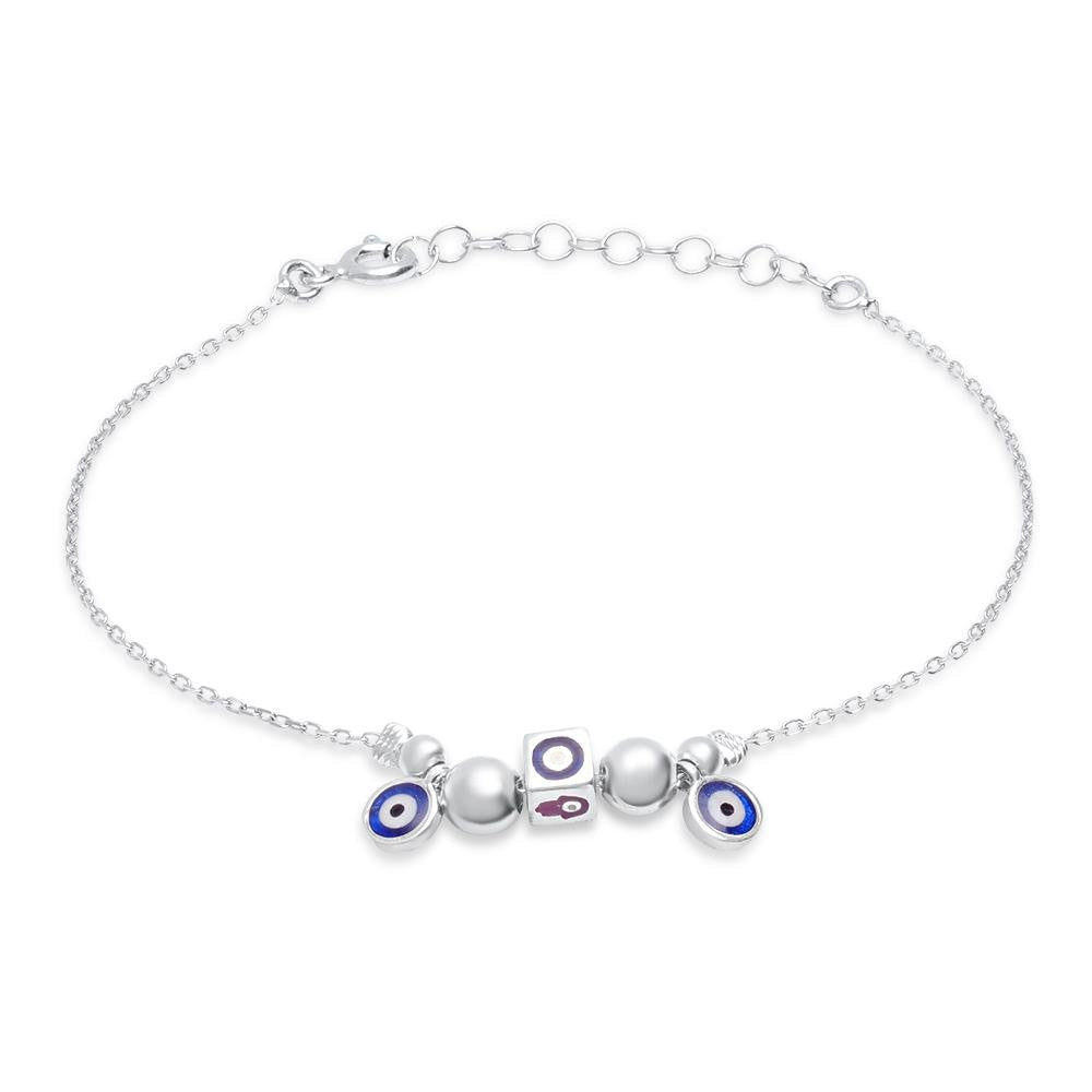 evil eye and hamsa charm bracelet