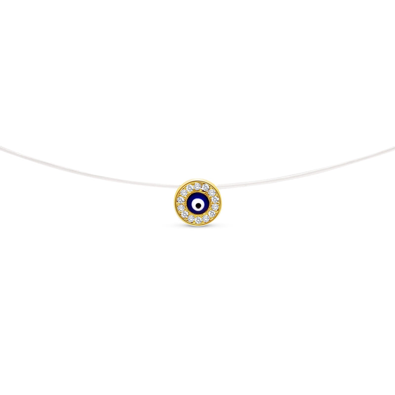 Evil Eye Necklace on Invisible Chain