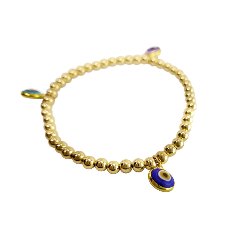 golden evil eye bracelet